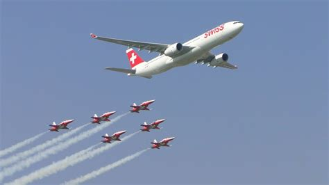 air payerne patrouille suisse airbus  youtube