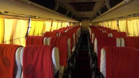 asias longest bus volvo br beautiful bright coach interiors youtube