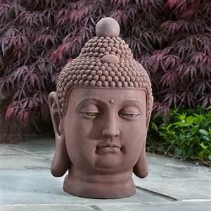Alfresco, Home, Buddha, Bust, Garden, Statue