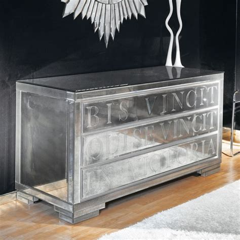 art deco style chest  drawers  mirrored bedroom
