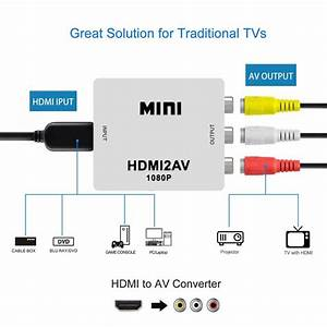 1080p Hdmi Mini Vga To Rca Av Composite Adapter Converter