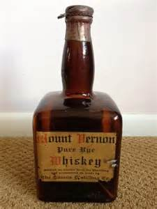 Mount Vernon Pure Rye Whiskey Bottle