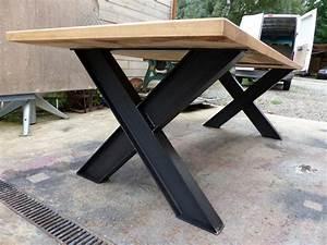 Pied De Table Basse Metal Industriel : brocantetendance fabrication sur mesure mobilier ~ Teatrodelosmanantiales.com Idées de Décoration