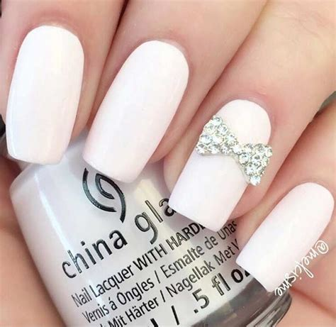 chic white acrylic nails  copy page    stayglam