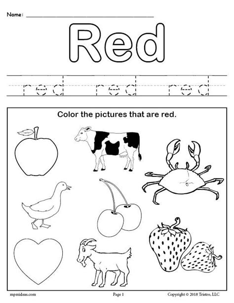 learning your colors 8 printable color worksheets 881 | Learning Your Colors red b8833269 341e 4c2a b8a8 c43e2e7d9044 1024x1024