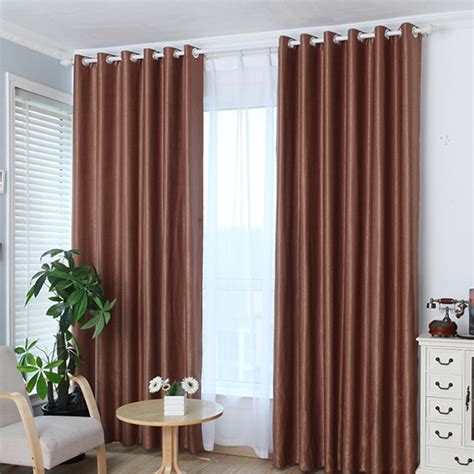 hot sale upscale jacquard yarn curtains solid grommet