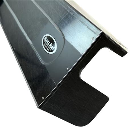 scott rod mustang aluminum race dash black   lmr