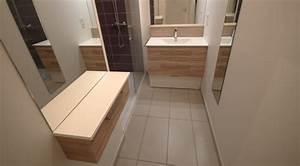 Coiffeuse Salle De Bain : meuble pour une mini salle de bain atlantic bain ~ Teatrodelosmanantiales.com Idées de Décoration