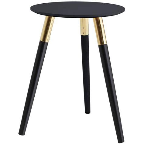 norton retro side table black
