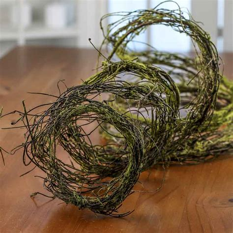 twig and moss natural twig and moss garland artificial greenery floral supplies craft supplies