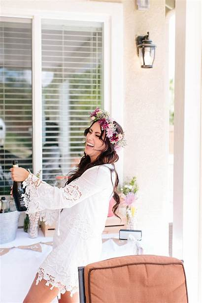 Shower Bridal Flower Champagne Crowns Backyard Ultimatebridesmaid