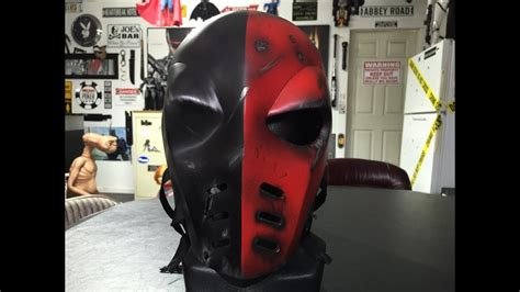 arrow deathstroke mask red battle damaged youtube