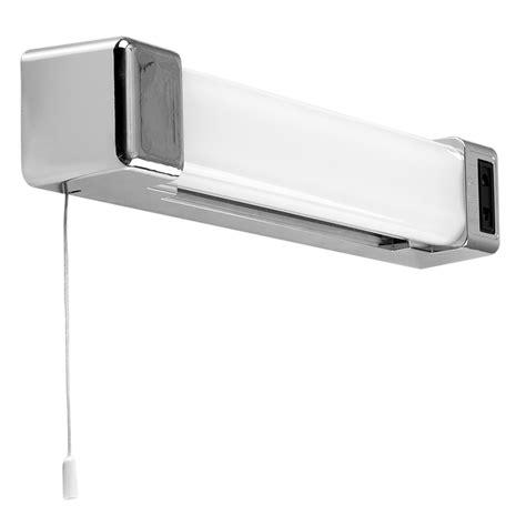 horizon chrome  led bathroom shaver light  pull