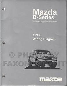 1998 Mazda B4000 B3000 B2300 Pickup Truck Wiring Diagram Manual Original 2 And 4 Door