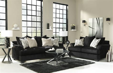 Black And White Living Room Set : Color Your Living Room With Awe And Couch Loveseat Set For
