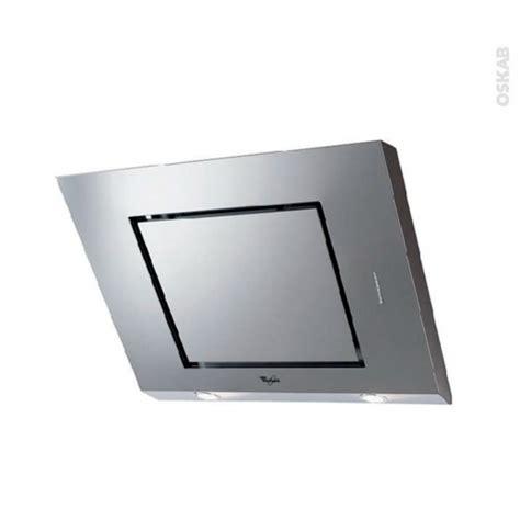 hotte de cuisine 80 cm hotte de cuisine aspirante inclinée 80 cm inox whirlpool