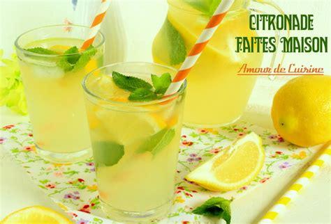cuisine amour citronnade ou limonade au citron faite maison amour de