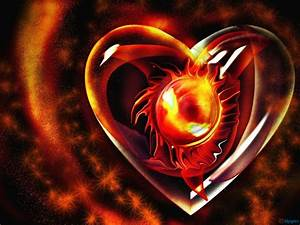 Fire heart Wallpapers | HD Wallpapers Pics