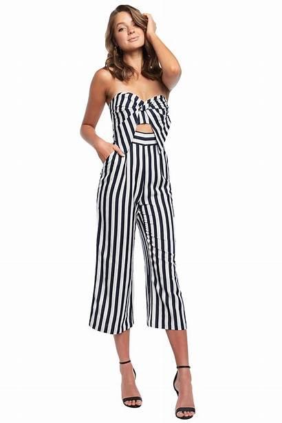 Jumpsuit Bow Stripe Jumpsuits Bardot Playsuits