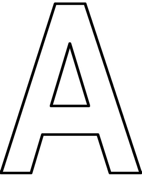 Letter A Coloring Pages Preschool Crafts Letter A Coloring