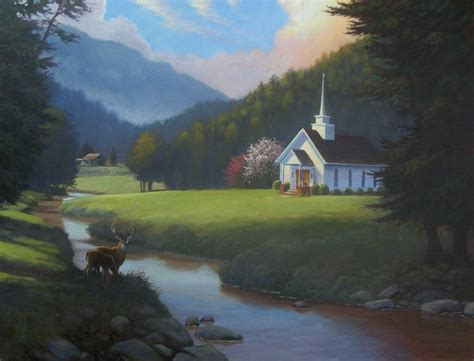Art Murals And Ministry Little Country Church Painting