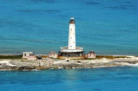bird rock light lighthouse  crooked island bahamas