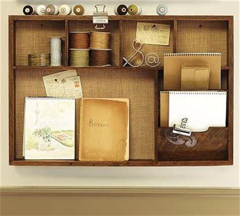 pottery barn desk organizer rustic home office wall organizer activity center