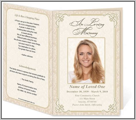 free funeral program template photoshop funeral program template photoshop template resume exles yzkyrpgdgv