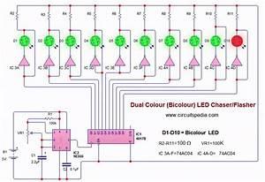 Bicolour Blinking Led Lights Circuit  Bi Colour Led