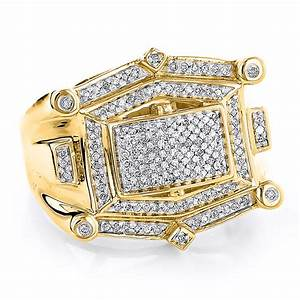 hip hop diamond ring for men 10k white or yellow gold 052ct With hip hop wedding rings