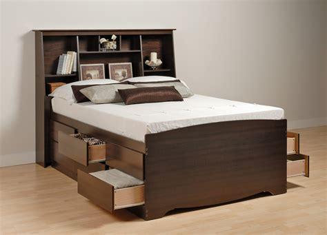 Augusta Tall Storage Platform Bed With Headboard