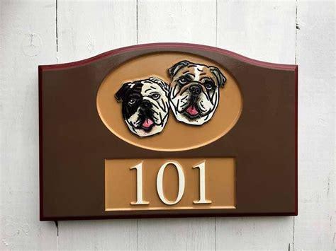 custom carved address  house number sign  pet