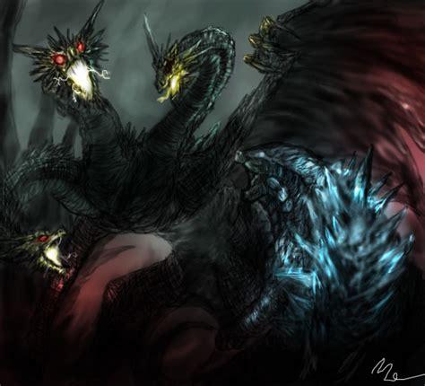 Godzilla Vsking Guidorah By Plaguebr On Deviantart