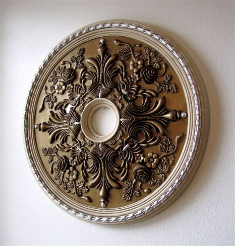 Small Two Ceiling Medallions by How To Paint A Ceiling Medallion Destashio