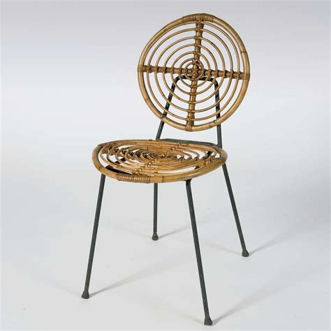 midcentury rattan chairs on metal frame by thonet at 1stdibs