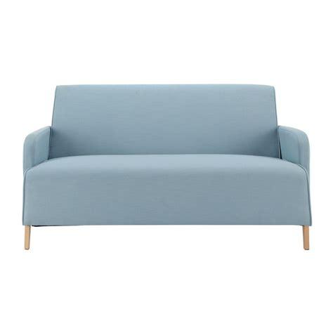 canape  places en tissu bleu adam maisons du monde