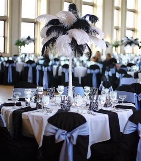 black and white party table centerpieces 46 cool black and white wedding centerpieces happywedd com