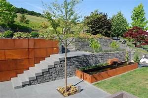 Sichtschutz Mauer Naturstein : garten terrasse au engestaltung mauer trockenmauer ~ Michelbontemps.com Haus und Dekorationen