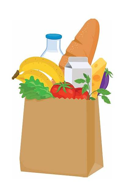 Groceries Grocery Bag Clipart Vector Illustration Clip