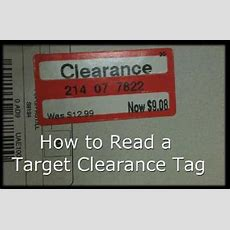 How To Read A Target Clearance Tag  Final Prices End In A 4, If An Item Ends In An 8 It Will Be