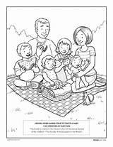 Coloring Lds Lesson Pages Families Printable Primary Children Parents Preschoolers Thankful D Under Am Help sketch template