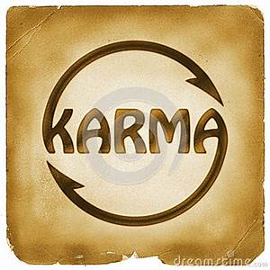 Cycling Karma Word Symbol On Old Paper Stock Illustration ...