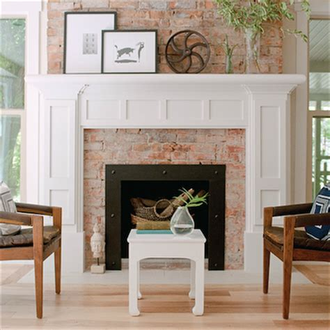 wood mantel on brick fireplace trgn 9c1c65bf2521