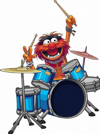 Drum Clipart Roll Drums Animal Muppet Electric