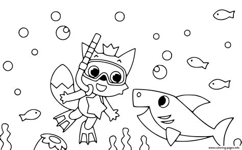 Baby Sharks Coloring Pages Printable