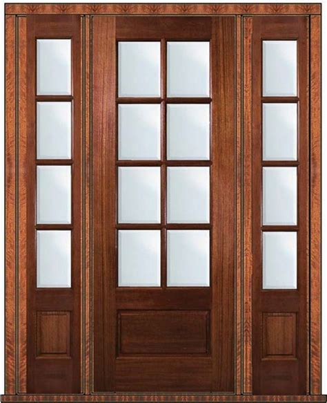 prehung patio side lights door 96 wood mahogany 3 4 lite 8