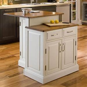 shop home styles white midcentury kitchen islands at lowescom With kitchen cabinets lowes with island wall art