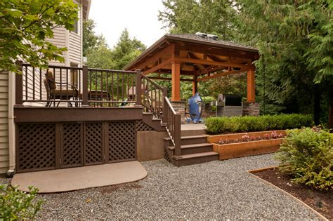 How To Build A Detached Patio Cover by Detached Covered Patio Amp Deck Traditional Patio