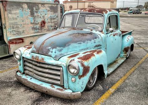 1953 gmc truck with an amazing blue patina d