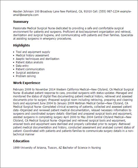 Professional Medical Surgical Nurse Templates To Showcase. Skills To Include In Your Resume. Indeed.com Resume Upload. Levels Of Language Knowledge For Resume. Resume Third Person. Help With Resume For Free. Sample Music Teacher Resume. Professional Resumes Writers. Summary Of Experience Resume